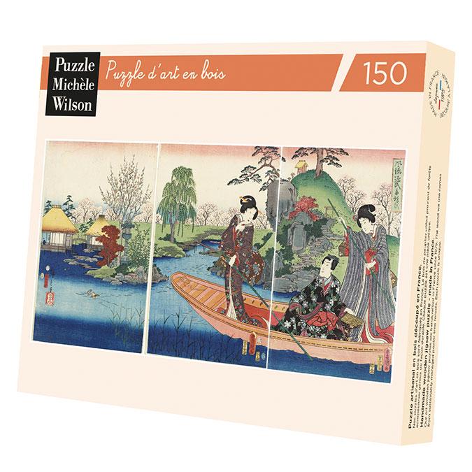 Puzzle en bois 150 pièces Kunisada Barque