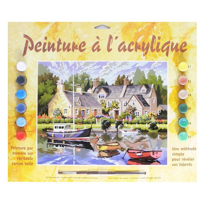 Peinture par numéro Maisons bretonnes