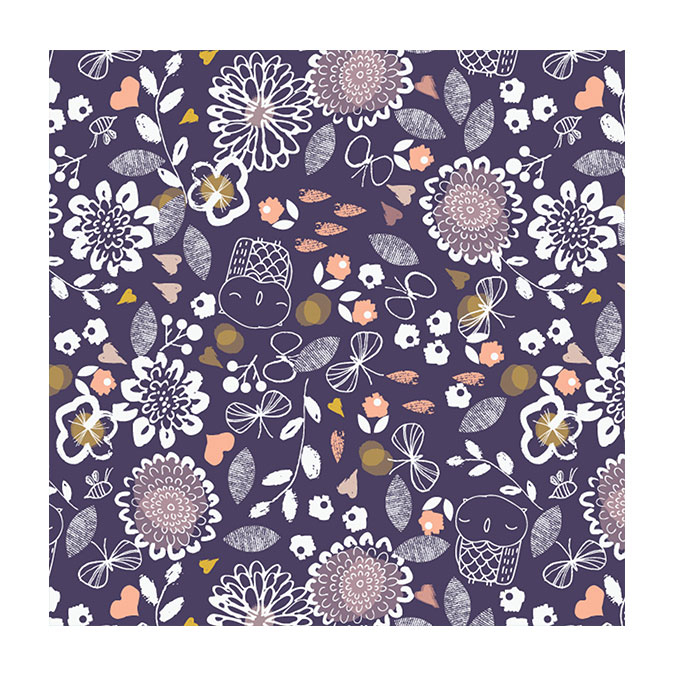 Coupon de tissu Autumn rain 1273 - 50 x 110 cm
