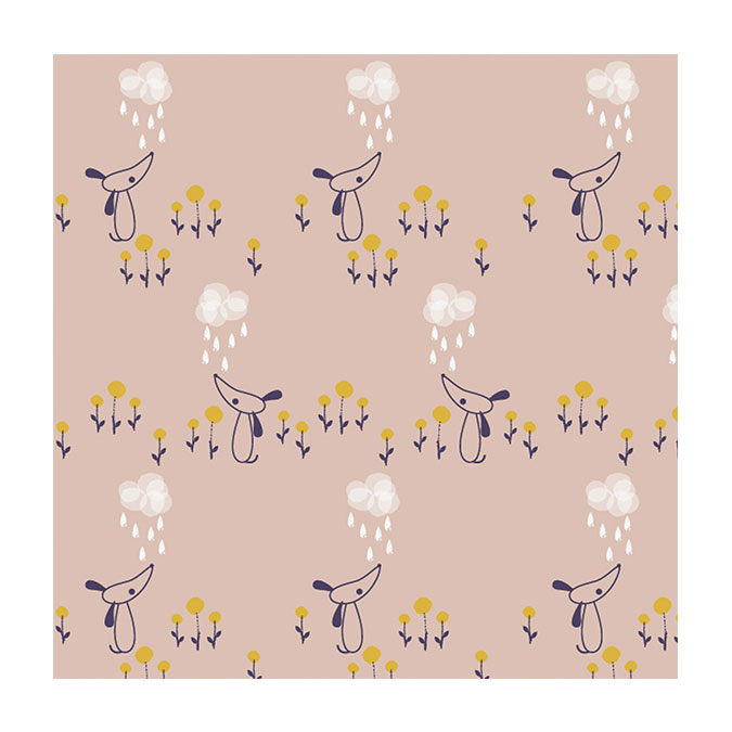 Coupon de tissu Autumn rain 1274 - 50 x 110 cm