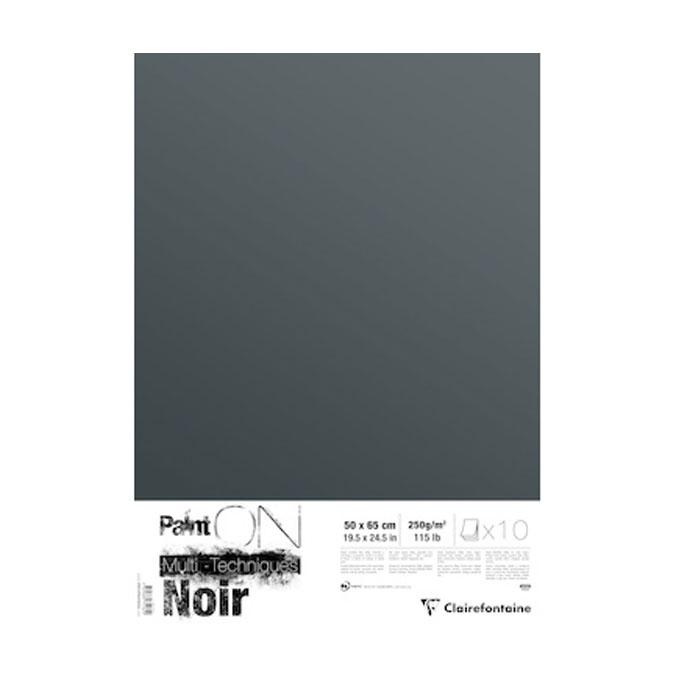 Papier noir Paint'on 50 x 65 cm 10 feuilles 250g/m²