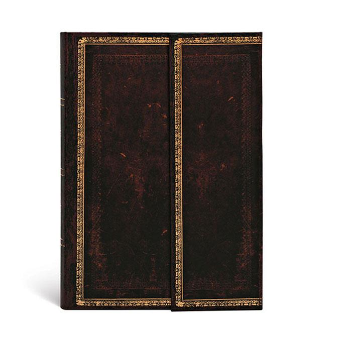 Carnet ligné Marocain noir 10 x 14 cm 85 g/m² 176 p