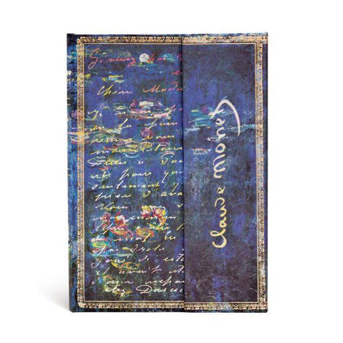 Carnet ligné Monet Nénuphars 13 x 18 cm 120 g/m² 144 p
