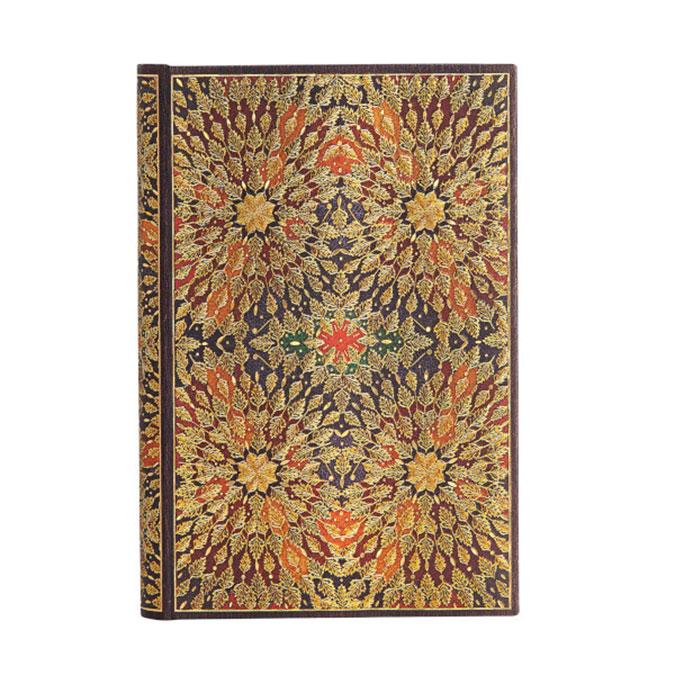 Carnet ligné Fleurs de feu 9,5 x 14 cm 120 g/m² 240 p