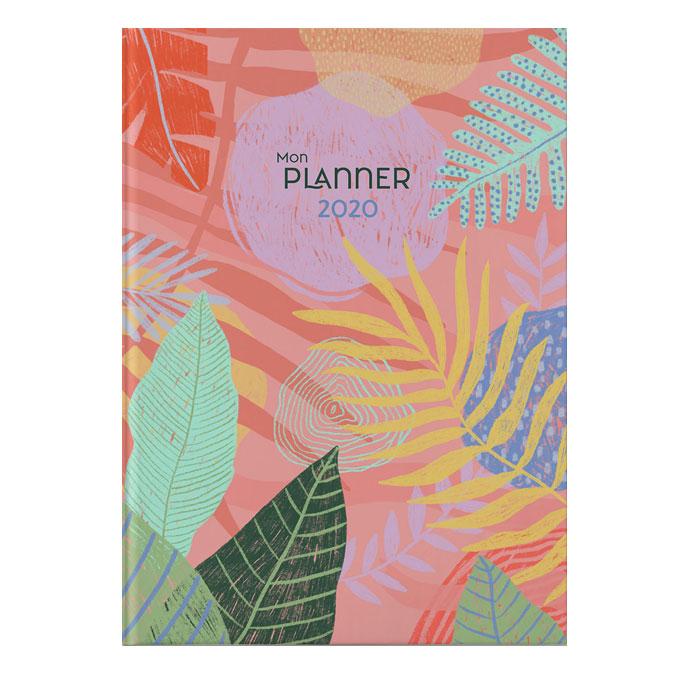 Carnet A5 Mon Planner 2020 corail