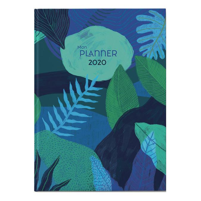 Carnet A5 Mon Planner 2020 bleu nuit