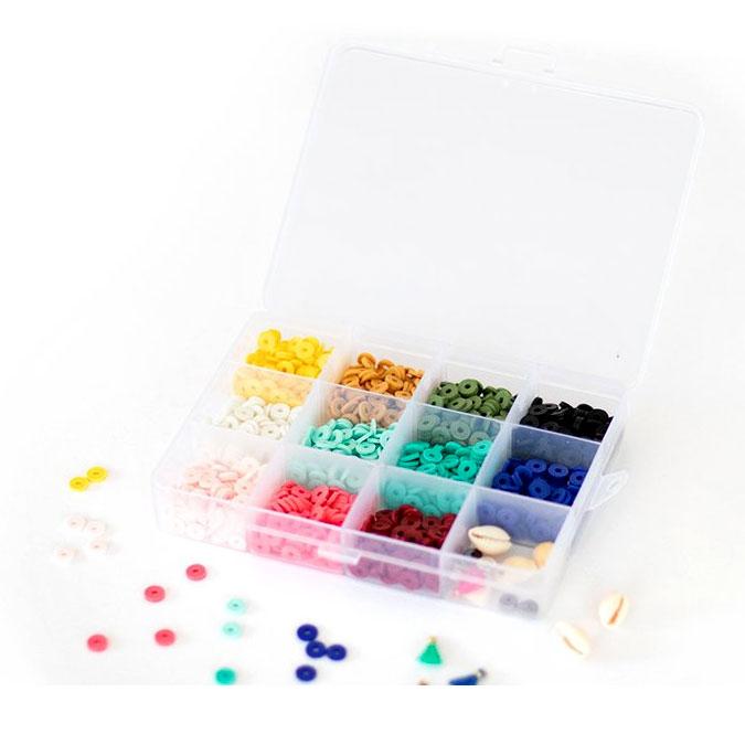 Perle rondelle Heishi 6 mm Mix couleurs Pop + Accessoires