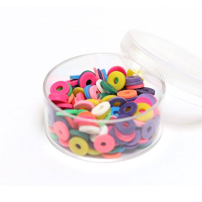 Perle rondelle Heishi 6 mm Mix couleurs Pop