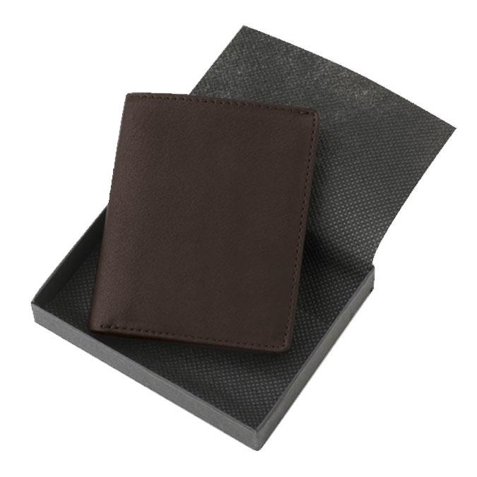 Porte-cartes London une vue en cuir Noir 10 x 8 cm