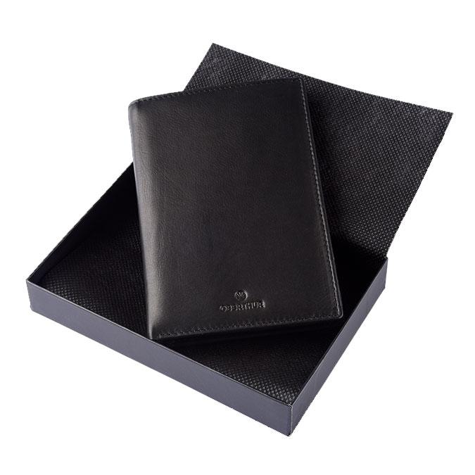 Portefeuille London en cuir Noir 15,5 x 10,5 cm