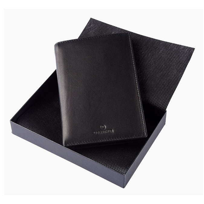 Portefeuille London cuir Brun 15,5 x 10,5 cm