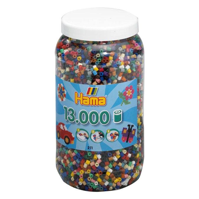 Perle repasser Midi Boîte de 13 000 perles 22 Couleurs