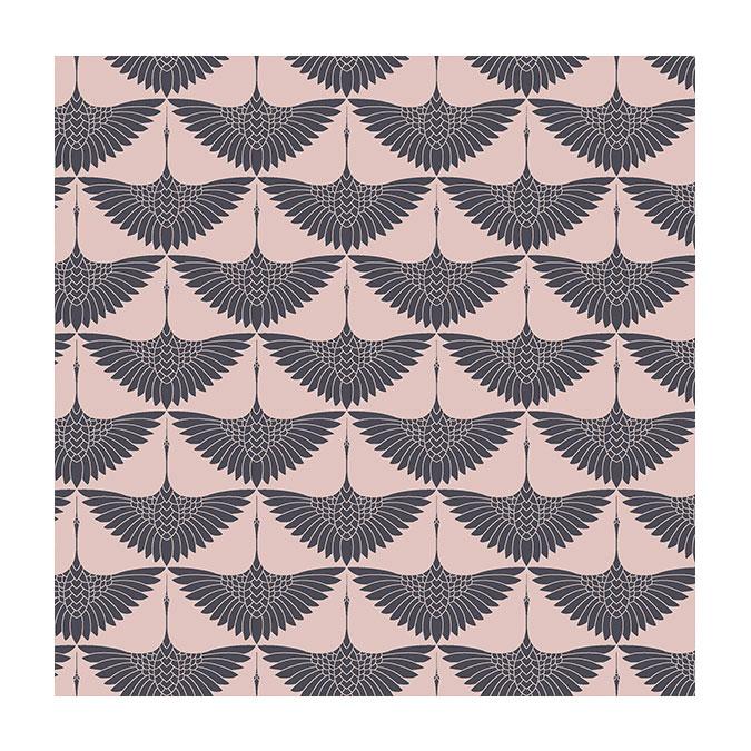 Coupon de tissu Wax imprimé Envol naturel - 150 x 160 cm
