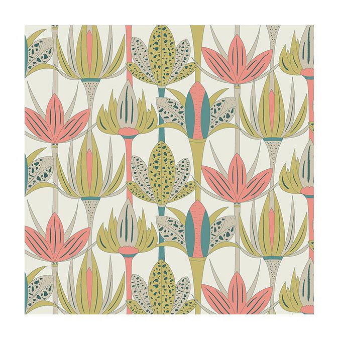 Coupon de tissu Wax imprimé Floraison 2 - 150 x 160 cm
