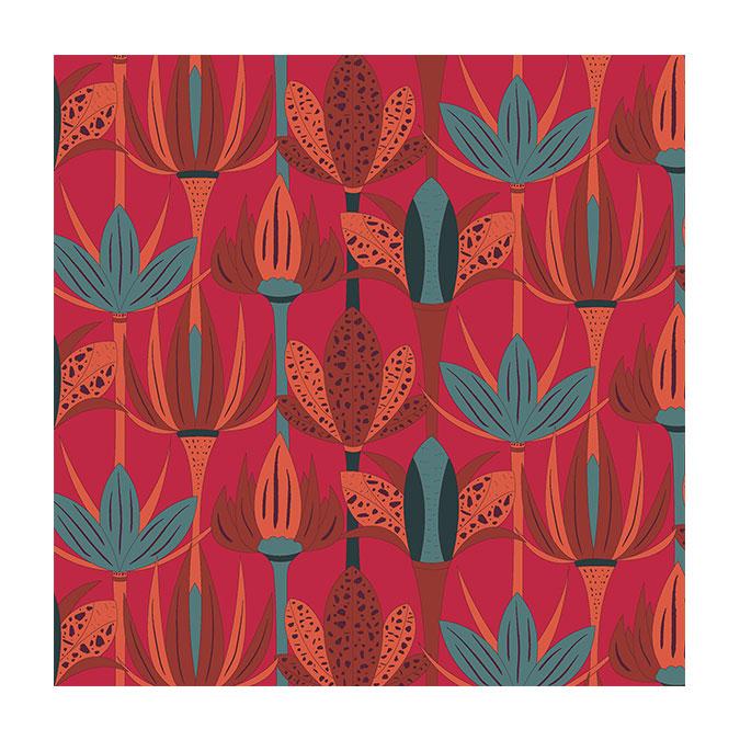 Coupon de tissu Wax imprimé Floraison 8 - 150 x 160 cm