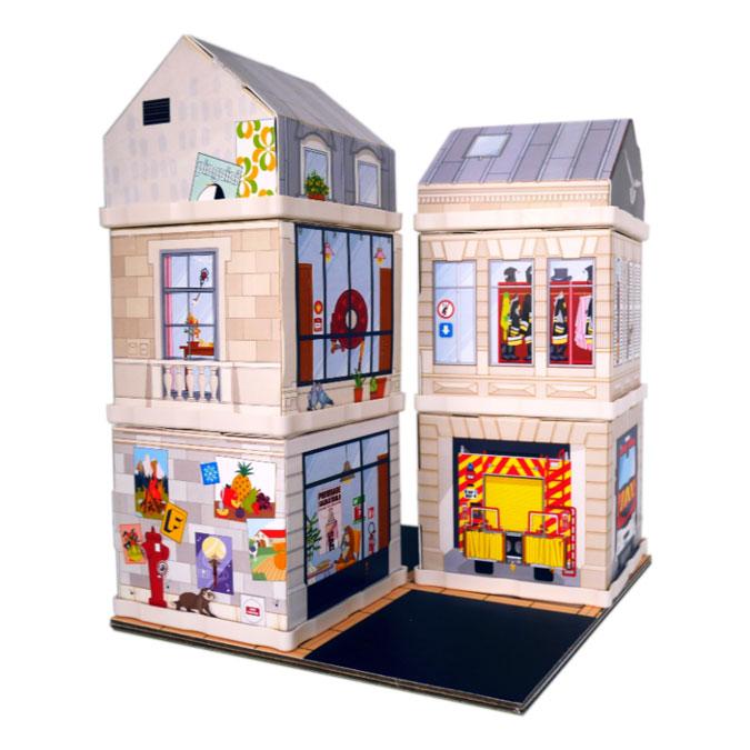 Jeu de construction Au feu les pompiers