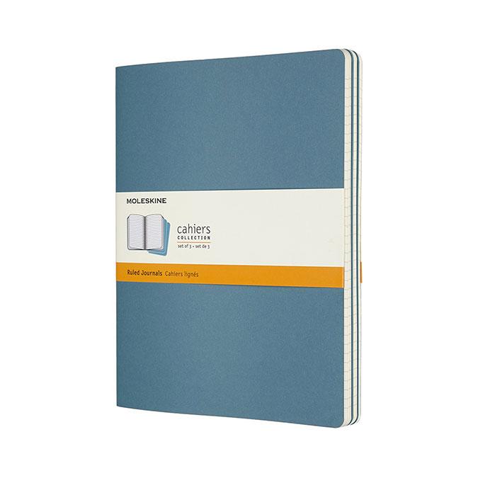 Cahier ligné Bleu 19 x 25 cm 3 pcs