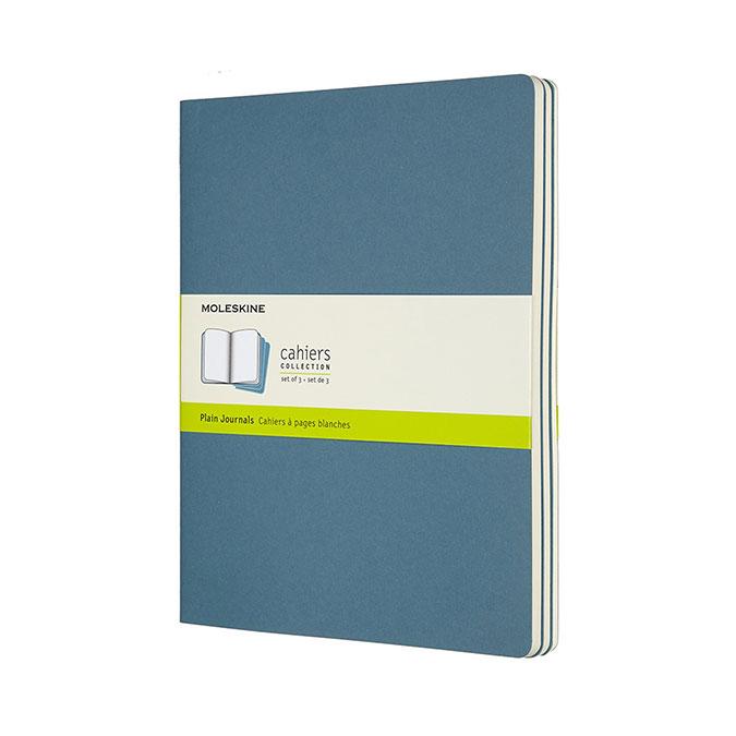 Cahier Bleu 19 x 25 cm 3 pcs