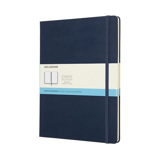 Carnet de notes Classic grille pointillés 19 x 25 cm Bleu saphir