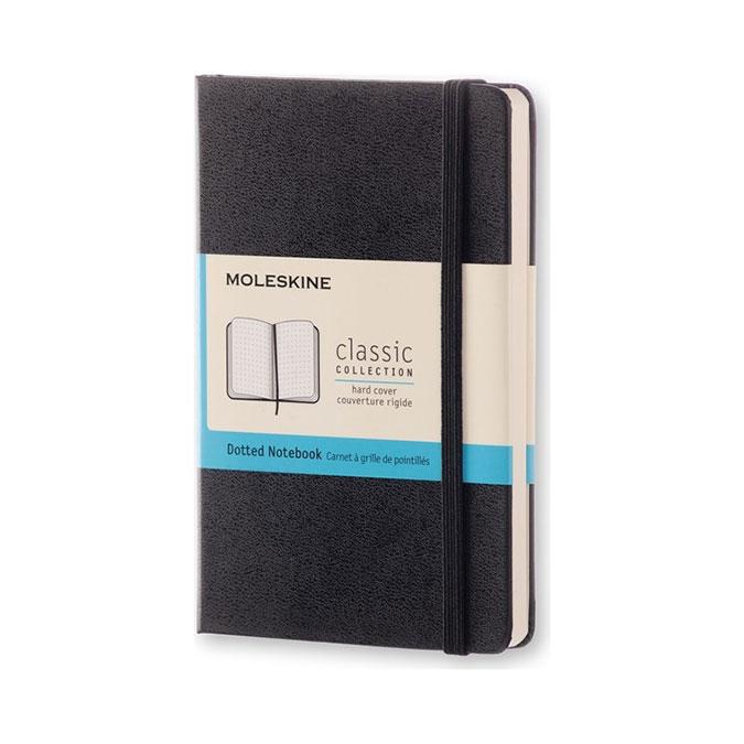 Carnet de notes Classic grille pointillés 9 x 14 cm Noir