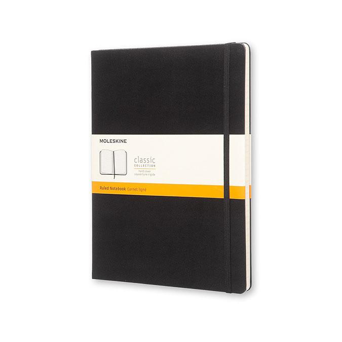 Carnet de notes Classic ligné 19 x 25 cm Noir