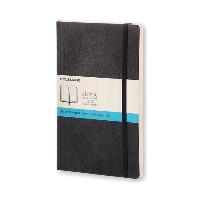 Carnet de notes Classic souple grille pointillés 13 x 21 cm Noir