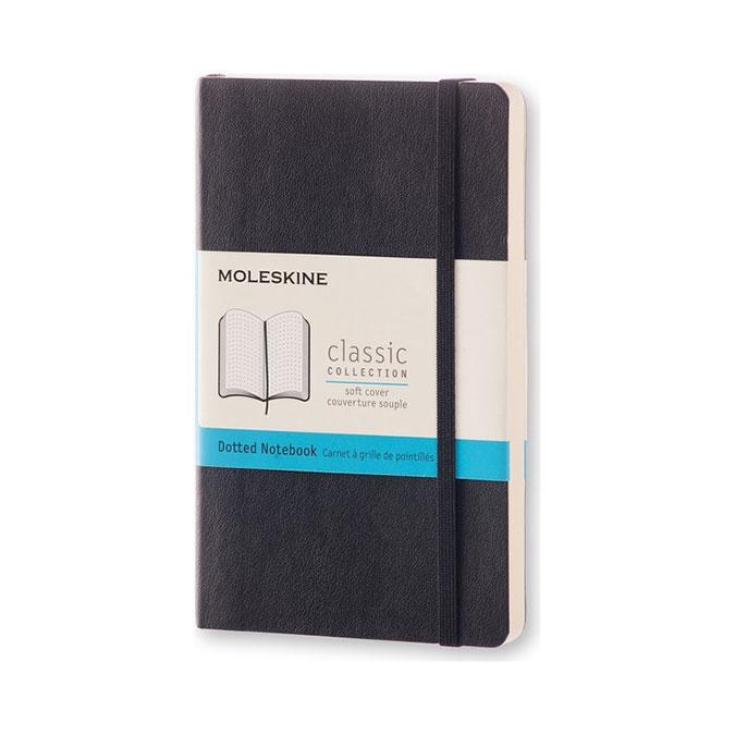 Carnet de notes Classic souple grille pointillés 9 x 14 cm Noir