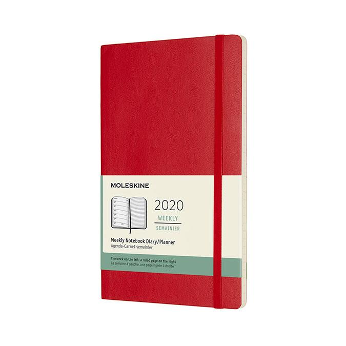 Agenda 2020 souple Semainier 9 x 14 cm Rouge