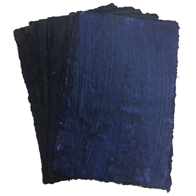 Feuille Indigo 120 g/m² 24 x 36 cm Pochette de 10