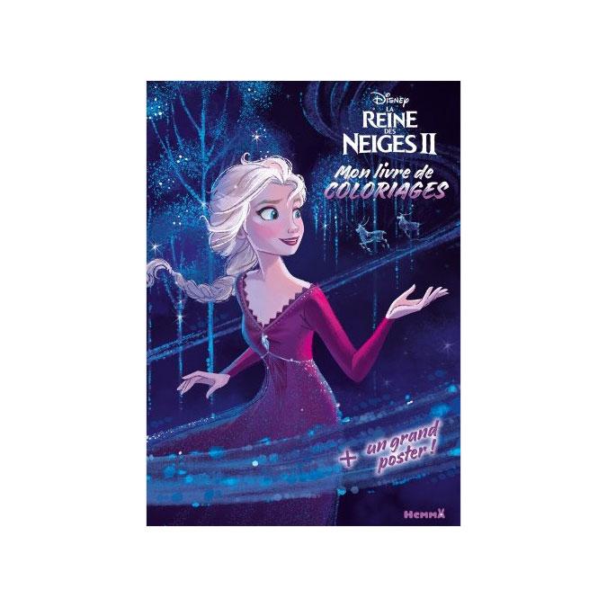 Mon livre de coloriages + un grand poster La Reine des Neiges 2