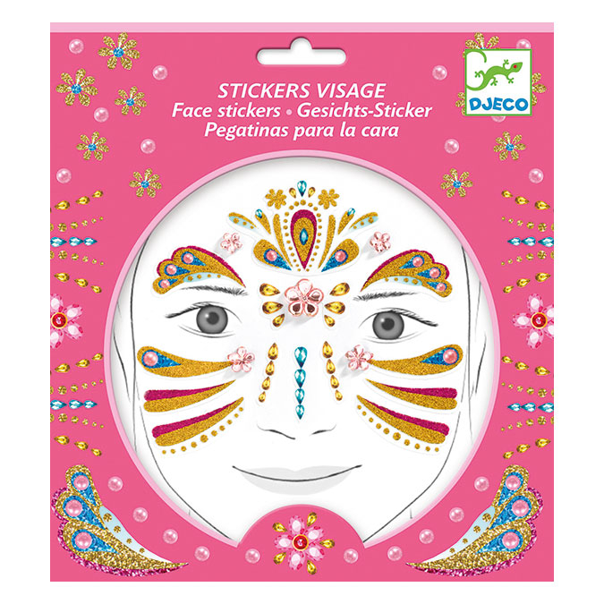 Stickers pour le visage Princesse or