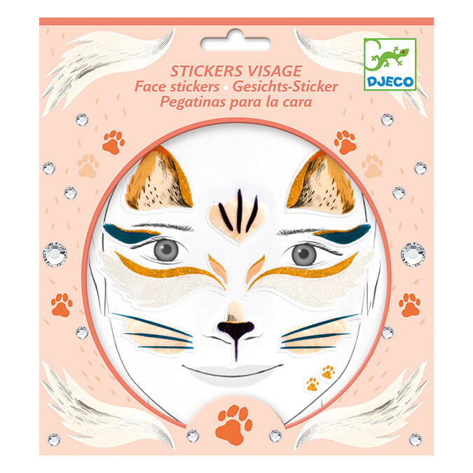 Stickers pour le visage Chat