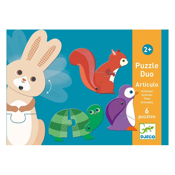 Puzzle Duo-trio Articulo animaux