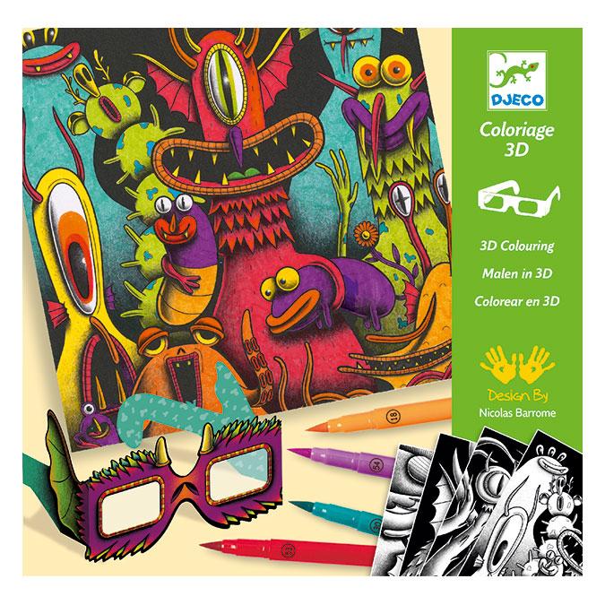 Tableau à colorier 3D Funny freaks