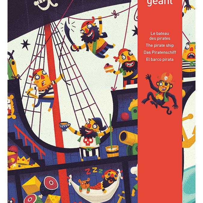 Puzzle géant Bâteau des pirates 36 pièces