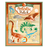 Activité collage Artistic patch Dinosaurus