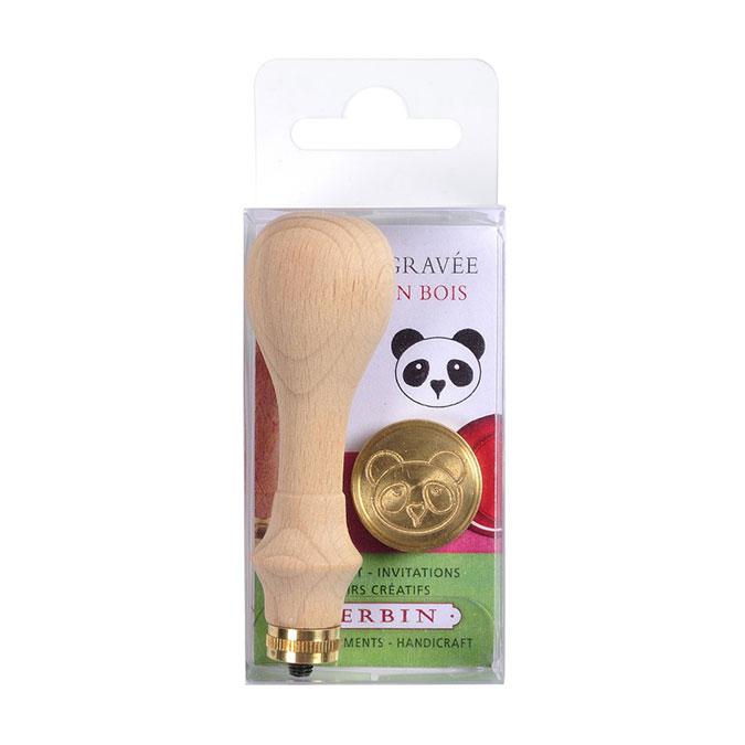 Sceau en laiton Panda + manche
