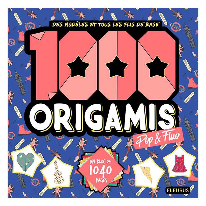 Livre 1000 origamis pop & fluo