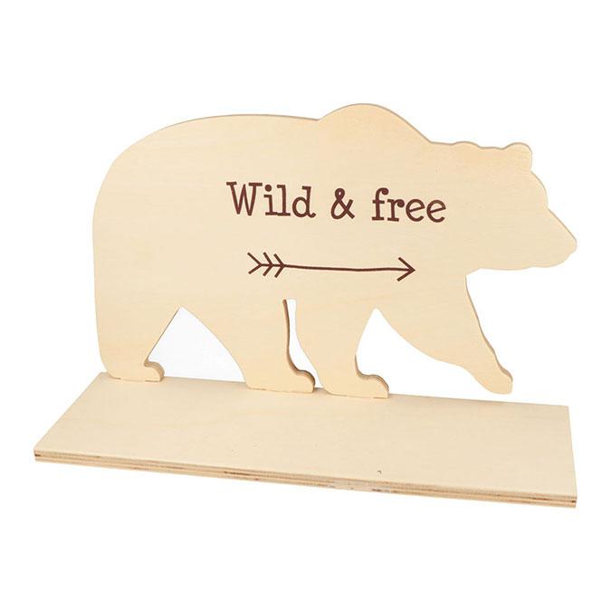 Étagère Ours en bois 30 x 19 x 10 cm