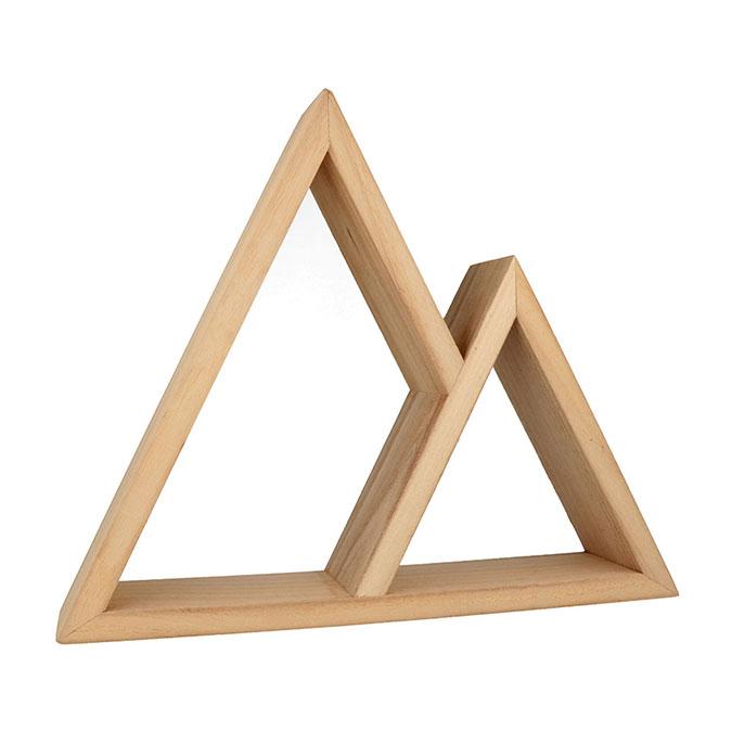 Étagère double triangle 37 x 30 x 8 cm
