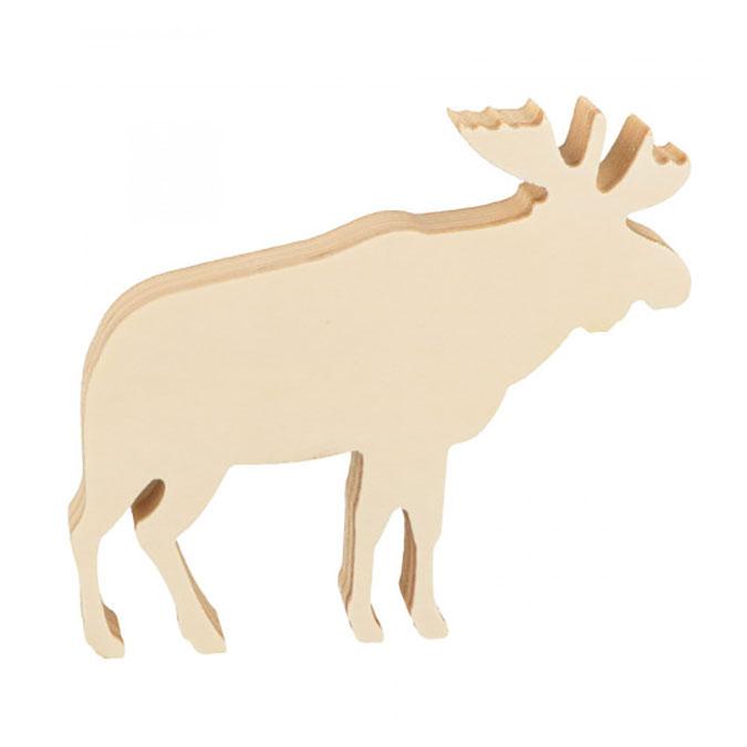 Caribou en bois 11,5 x 10 x 1,8 cm