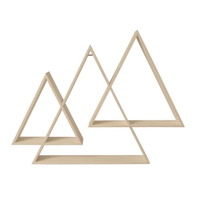 Étagère triple triangle 73 x 56 x 12 cm