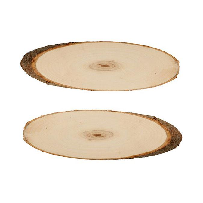Rondelle de peuplier ovale 37 x 42 cm 2 pcs