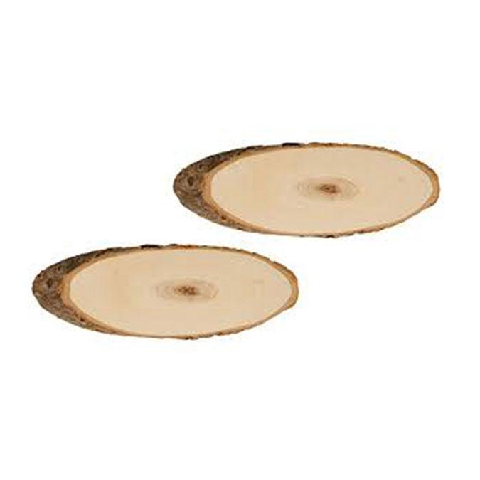 Rondelle de peuplier ovale 20 x 23 cm 2 pcs