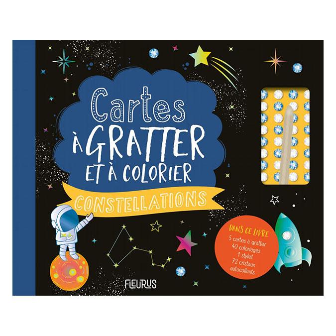 Livre coffret Cartes à pailleter et colorier : Constellations