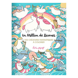 Carnet de coloriage Un million de licornes