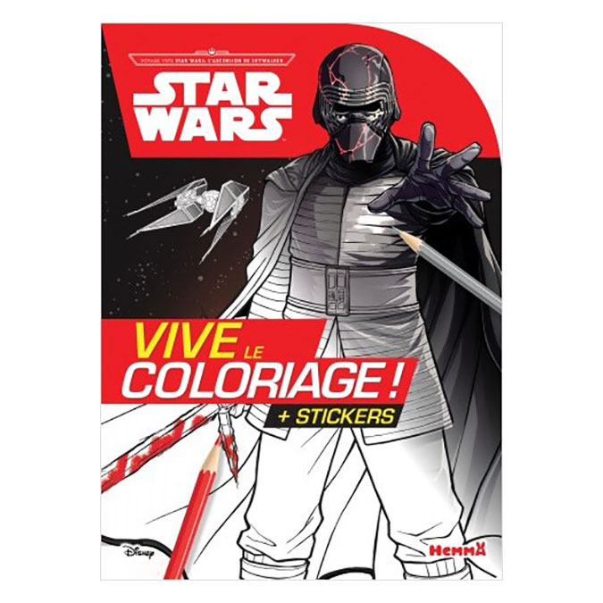 Carnet de coloriage Star Wars Voyage vers SW L'Ascension de Skywalker