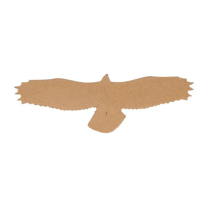 Aigle silhouette en médium 15 cm