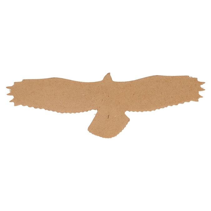 Aigle silhouette en médium 25 cm