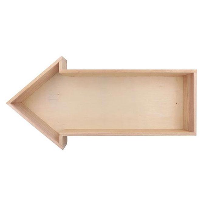 Étagère Flèche en bois 40 x 20 x 7 cm